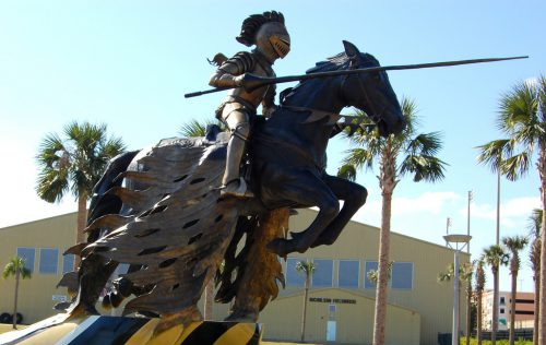 UCF Charging Knight Statue