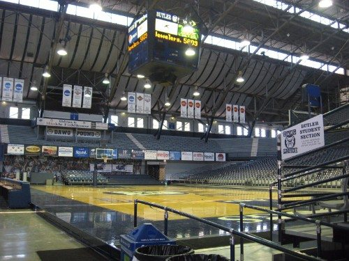 Hinkle Fileldhouse banners