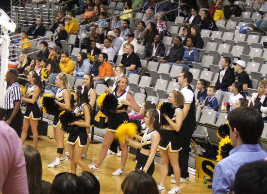 Holmes Center Appalachian State ASU Mountaineers Basketball cheerleaders