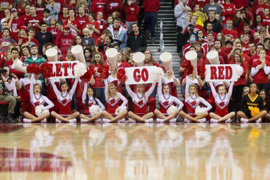 Wisconsin Badgers cheerleaders
