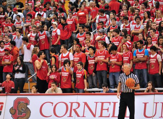 Cornell Big Red Basketball Newman Arena crowd