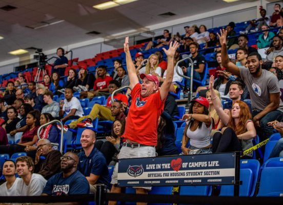 FAU owls basketball FAU Arena fans student section