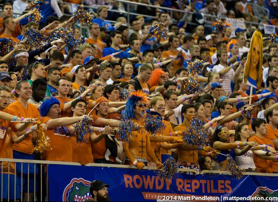 Florida Gators basketball fans
