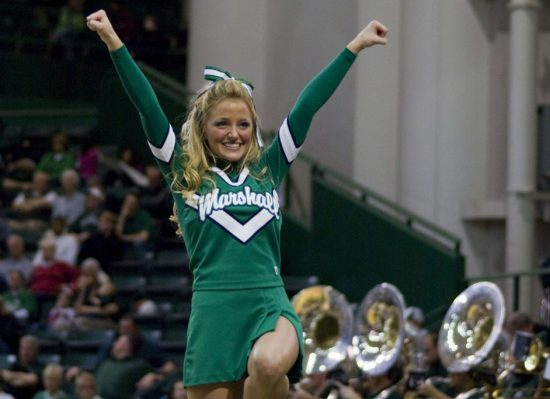 Marshall Basketball cheerleader