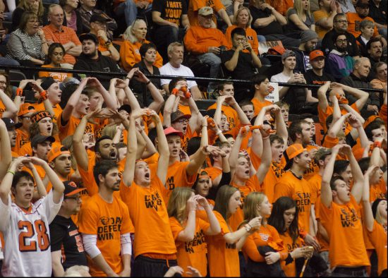 OSU Beavers Basketball cheering