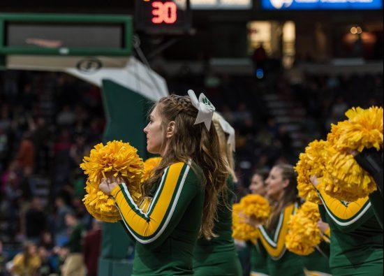 Siena Saints basketball cheerleaders