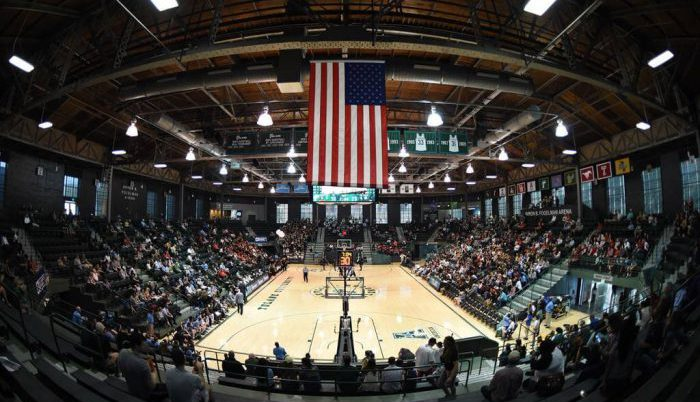 Tulane Green Wave Basketball Devlin Fieldhouse american flag