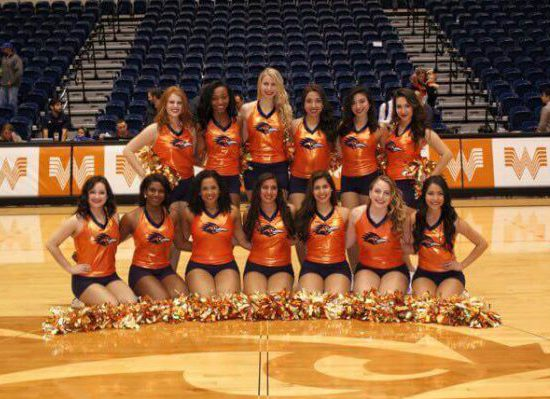 UTSA Roadrunners Basketball Convocation Center cheerleaders