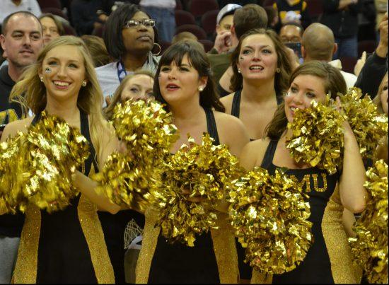 WMU Broncos basketball cheerleaders