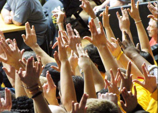 Wichita State Shockers basketball crowd fans