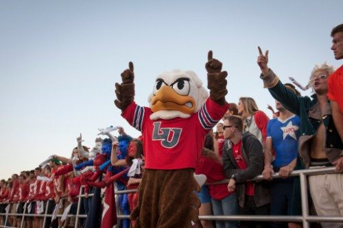 Liberty Flames mascot Sparky
