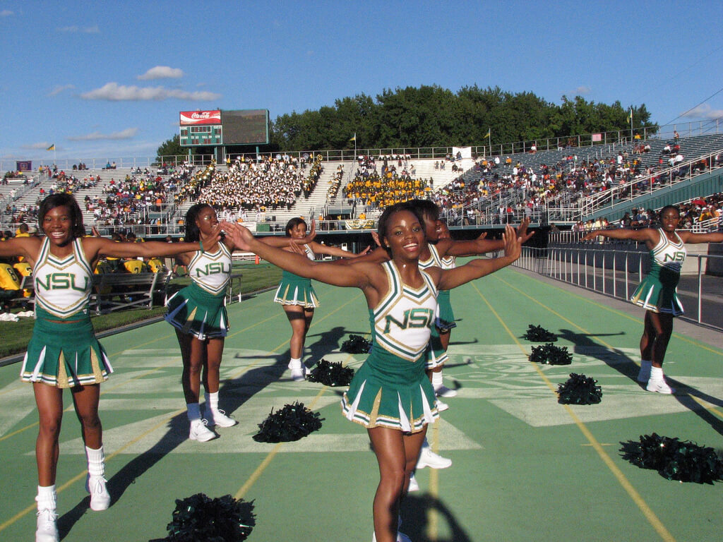 NSU Spartans football Cheerleaders
