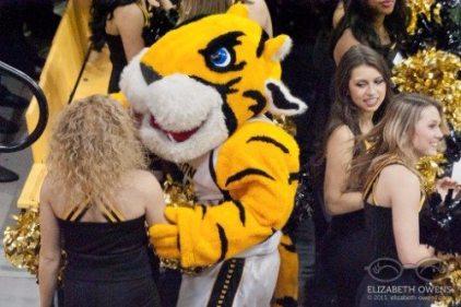 TSU Tennessee State Tigers mascot Aristocrat the Tiger