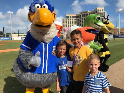 Biloxi Shuckers MGM Park mascot Schooner