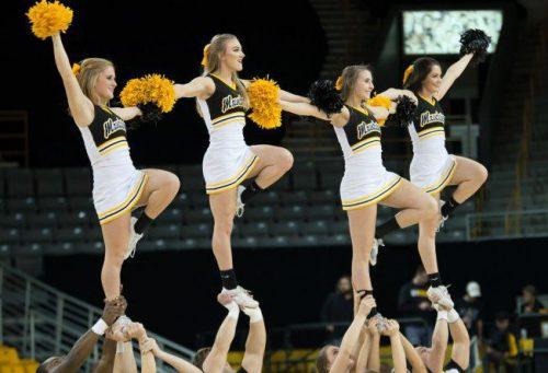 Appalachian State ASU Mountaineers Basketball cheerleaders