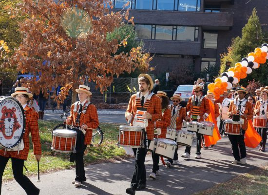 Princeton Tigers tailgate marching band