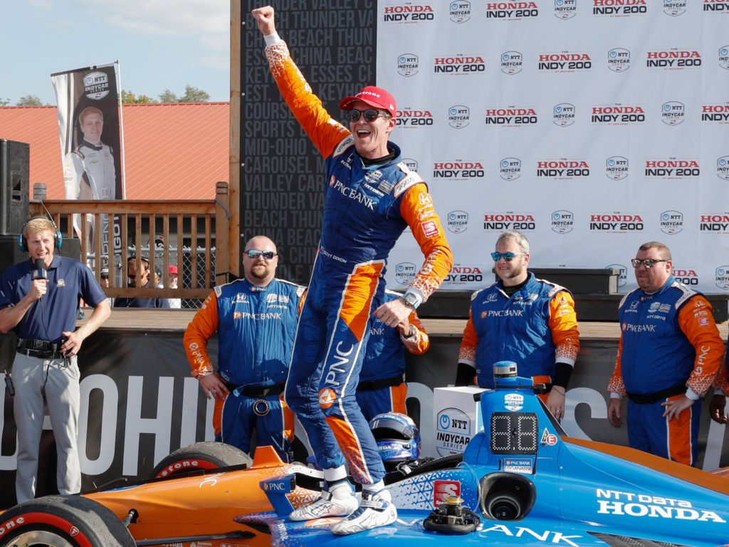 Scott Dixon Honda Indy Mid Ohio Sports Car Course