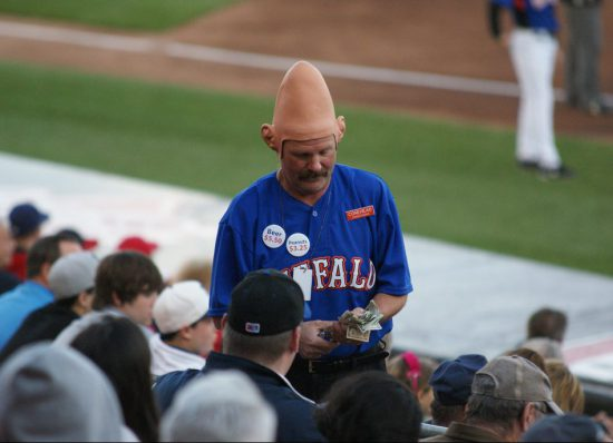Buffalo Bisons baseball Conehead