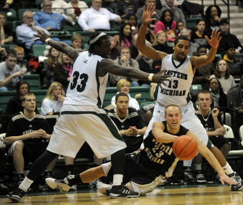 Eastern Michigan EMU Eagles Western Michigan WMU Broncos basketball game players rivalry