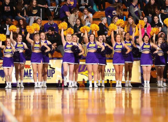 Northern Iowa Panthers Basketball McLeod Center cheerleaders