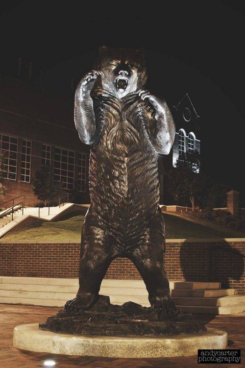 Mercer Bears bear statue