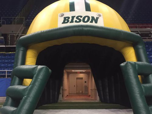 North Dakota State Bison pregame tunnel walk