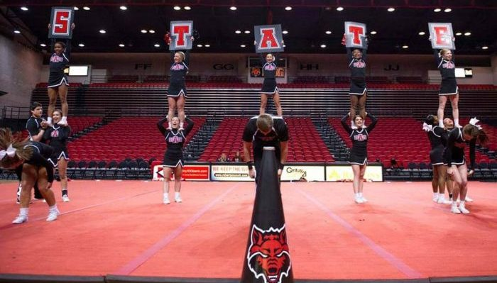 Arkansas State Red Wolves cheerleaders