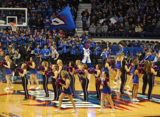 cheerleaders Wintrust Arena DePaul Blue Demons
