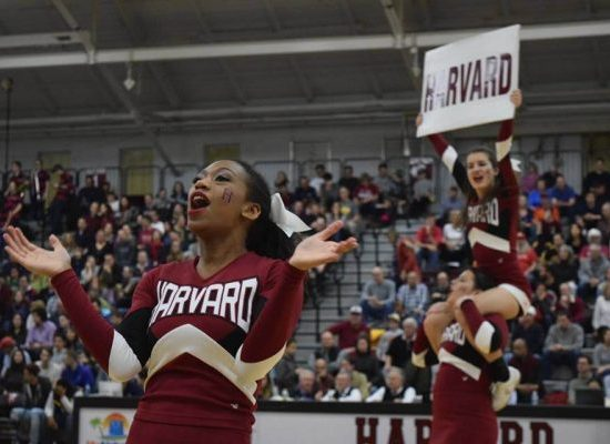Harvard Crimson cheerleaders