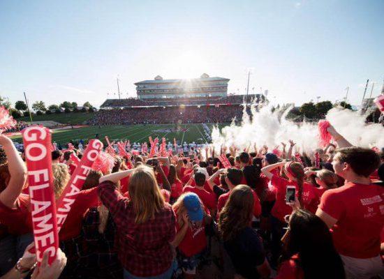 Liberty Flames fans football
