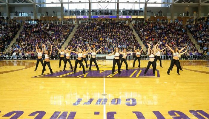 Northern Iowa Panthers McLeod Center dancers