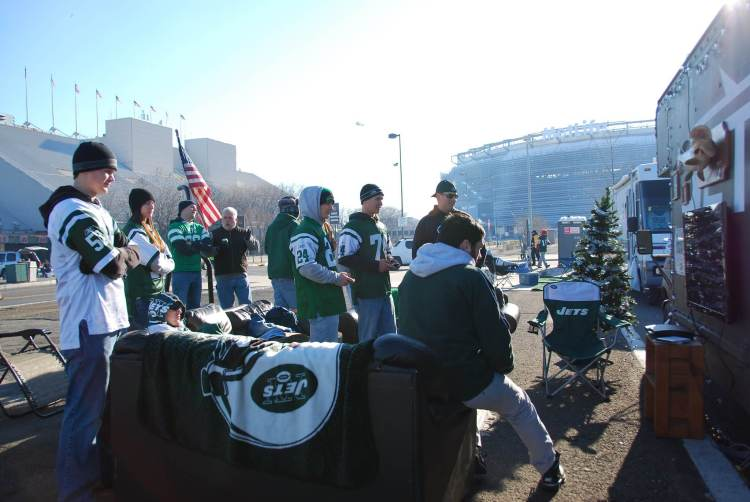 New York Jets tailgaters