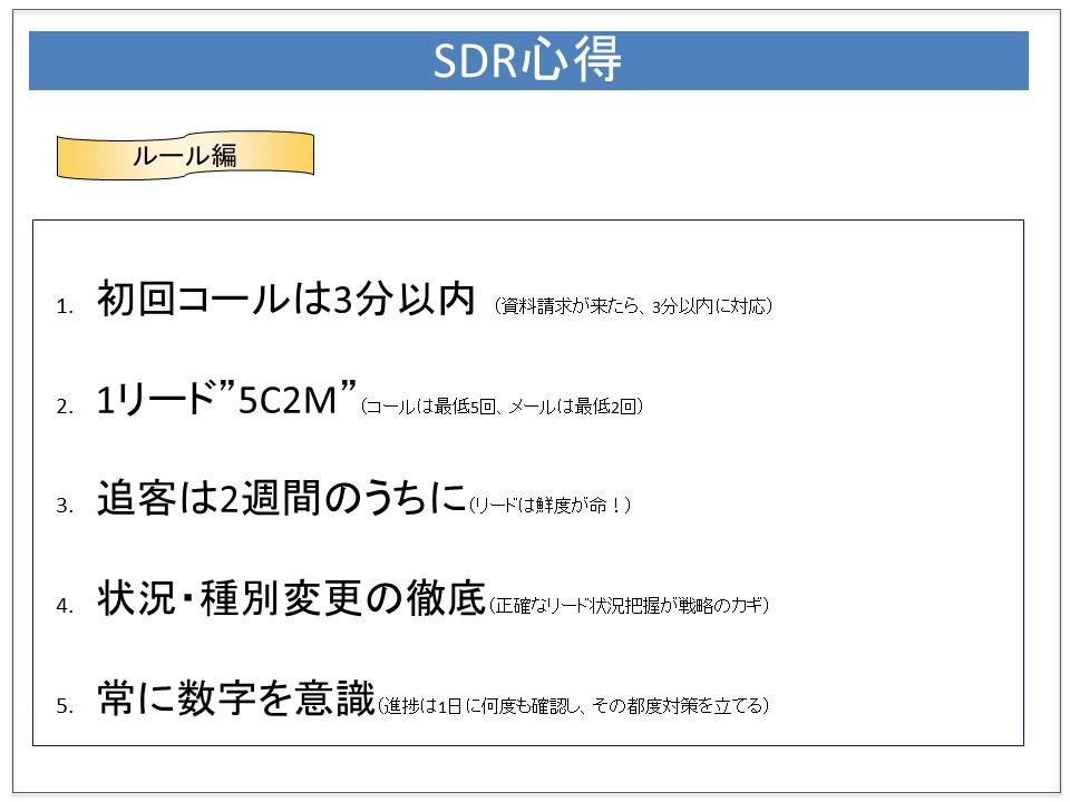 SDRの心得(ルール編)の実際の1ページ