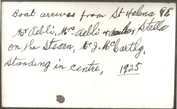 Handwritten details on reverse of photo, Bell Collection, QPWS