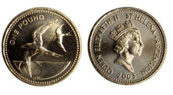 St Helena 1 Pound coin