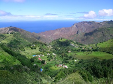 Sandy Bay from the Peaks, St Helena Island