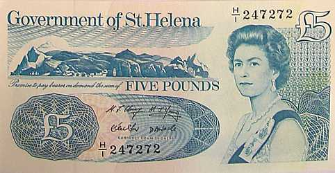St Helena £5 bank note