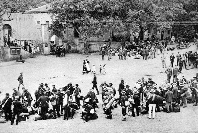 Boer prisoners departure, St Helena Island