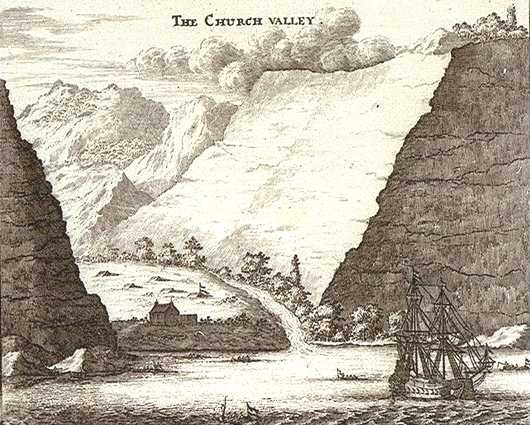Church Valley in 1658 by Johan Nieuhof
