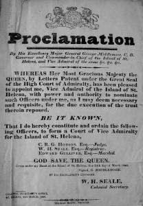 Slave proclamation