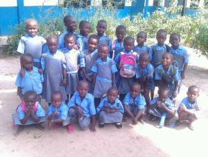 Faunku school. Gunjur Stichting Care4Gambia