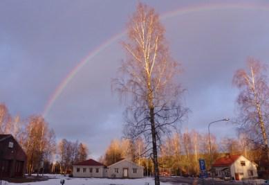 Solnedgång över gamla samhällsavdelningen - numera Pellet & Ved