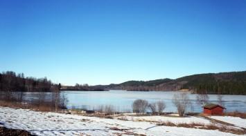 Lidsjön norrut fr N:a Väsby 13 mars 2015