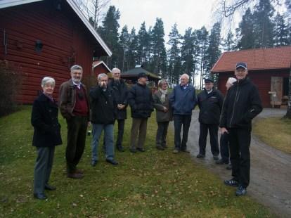 """Här alla församlade: Monica Grönkvist, Jaro Pleva, Bosse Gustavsson, Maths Svensson, Stig """"Jonsing"""" Jonsson, Lena Eliasson, Bengt Hardner, Lars-Gunnar Hedlund, Stig Andreasson, Sven Bosäter (f d Jönsson)"""