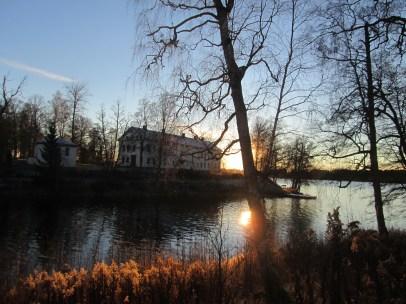 Uvåns utlopp o Hergården från Huvudkontoret