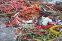 Melltorp Fibernätet på gång. Den här kabeln som borde borga för extra färg ...