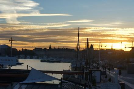 Solnedgång från Djurgårdsbron