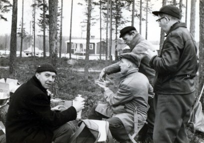 """Gösta """"Snarten"""" Eriksson, Allan o Gunnar Svärd o Yngve Möllberg"""