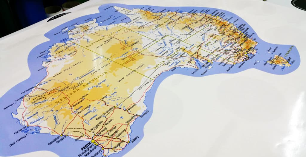Map of Australia Outdoor Sticker   Great for Caravans and     Map of Australia Outdoor Sticker     Great for Caravans and Recreational  Vehicles