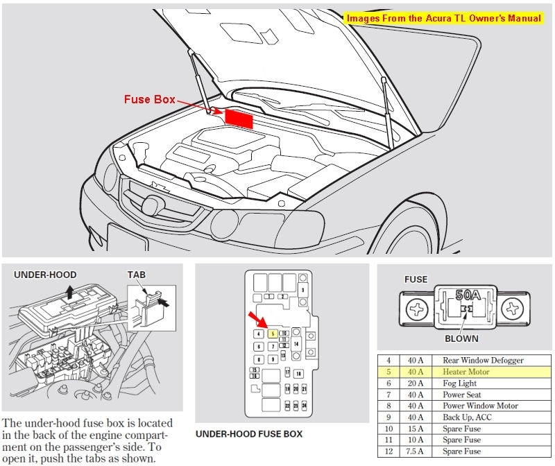 acura fuse box wiring diagram